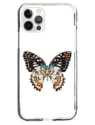 cheap -Butterfly Fashion Case For Apple iPhone 12 iPhone 11 iPhone 12 Pro Max Unique Design Protective Case Shockproof Back Cover TPU