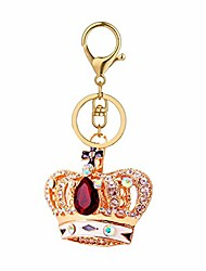 cheap -Bling Bling Crystal Keychain Lovely Handbag Decoration Car Key Decoration for Womens and Girls (Crown-Red)