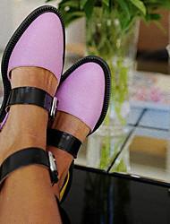 cheap -women colorblock slip resistant buckle stylish flats