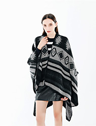 cheap -Sleeveless Coats / Jackets / Shawls Imitation Cashmere Party / Evening / Office / Career Shawl & Wrap / Women's Wrap With Split Joint / Stripe