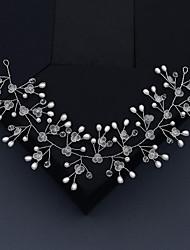 cheap -Wedding Sweet Imitation Pearl / Rhinestone / Alloy Headbands / Hair Accessory with Faux Pearl / Petal / Crystal / Rhinestone 1 PC Wedding / Party / Evening Headpiece