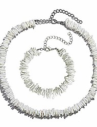 cheap -Puka Shell Choker Necklace for Women Seashell Necklace Shell Chips Beach Jewelry for Summer