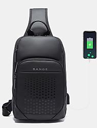 cheap -men oxford cycling bag usb technology chest bag crossbody sling bag