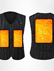 cheap -heating vest heating jacket electric heating vest, 5 heating panels (not including battery) (black-L size) heated hunting vest men.