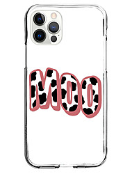 cheap -cow pattern moo phrase fashion case for apple iphone 12 iphone 11 iphone 12 pro max unique design protective case shockproof back cover tpu