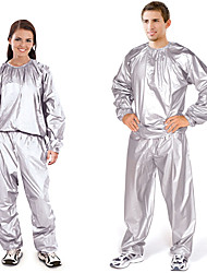 cheap -gym workout thermo 2-piece sauna detox suit - keep heat in to promote sweat (male)