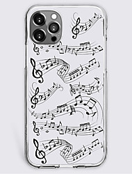cheap -Curve Music Phone Case For Apple iPhone 13 12 Pro Max 11 X XR XS Max iphone 7/8 iphone 7Plus / 8Plus Unique Design Protective Case Shockproof Back Cover TPU
