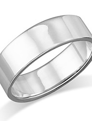 cheap -6mm sterling silver plain flat wedding band ring - size 10
