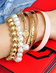 cheap -Women's Charm Bracelet Wrap Bracelet Vintage Bracelet Layered Fashion Vintage Boho Resin Bracelet Jewelry Blushing Pink For Christmas Halloween Gift Beach Festival