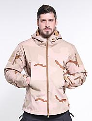 cheap -Men's Hoodie Jacket Hunting Jacket Outdoor Thermal Warm Waterproof Windproof Breathable Spring &  Fall Winter Camo / Camouflage Winter Jacket Coat Top Terylene Long Sleeve Camping / Hiking Hunting