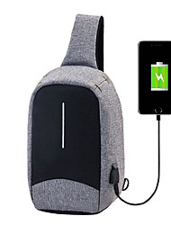 """cheap -men external usb charging function sling bag water repellent anti theft crossboby bag for 9.7"""" ipad"""