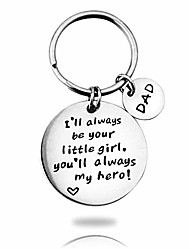 cheap -inspirational keychain stainless steel pendant engraved i will always be your little girl, you will always my hero key ring birthday gifts for dad, men, father