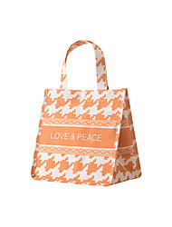 cheap -Women's Bags Linen Cotton Top Handle Bag Lines / Waves Leaf 2021 Going out Outdoor White Black Blue Orange