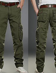 cheap -Men's Hiking Pants Trousers Hiking Cargo Pants Solid Color Winter Outdoor Multi-Pocket Wear Resistance Cotton Pants / Trousers Bottoms Black Army Green Khaki Hiking Outdoor Exercise Multisport 28 29