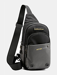 cheap -men fashion multi-color nylon waterproof chest bag shoulder