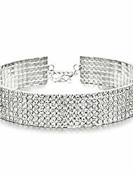 cheap -choker necklaces for women with crystal rhinestone iced out girl adjustable collar necklace jewelry accessories (geo)