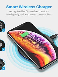 cheap -FLOVEME 5W Qi Fast Wireless Charger For iPhone 12 pro max Samsung S20 Note 20 Desktop Simple Wireless Charging Super Portable For Samsung/iPhone/Xiaomi/Huawei Charging Head 5w Charger