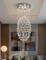 cheap -60 cm Crystal Chandelier LED Ceiling Light Modern Luxury Stainless Steel Living Room Restaurant Hotel Electroplated 110-120V 220-240V