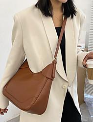 cheap -women faux leather large capacity retro casual brief shoulder bag crossbody bag