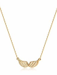 cheap -gold angel wings pendant necklace,14k gold plated cute tiny guardian angel charm necklace,dainty simple minimalist necklace for women
