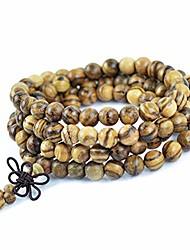 cheap -Vietnamese Agarwood Incense 108 Beads 6-8Mm Prayer Beads Meditation Bracelets Men Jewelry Wood Wristband 6mm