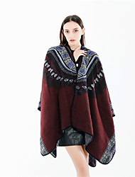 cheap -Sleeveless Coats / Jackets / Shawls Imitation Cashmere Party / Evening / Office / Career Shawl & Wrap / Women's Wrap With Split Joint