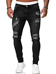 cheap -herren destroyed stretch jeans-hose used slim-fit 80-2369 schwarz w32/l32