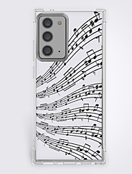 cheap -Curve Music Phone Case For Samsung S21 S21 Plus S21 Ultra Unique Design Protective Case Shockproof Back Cover TPU