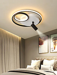 cheap -2-Light 42/52 cm Dimmable Geometric Shapes Flush Mount Lights Metal Acrylic Painted Finishes LED Nordic Style 220-240V