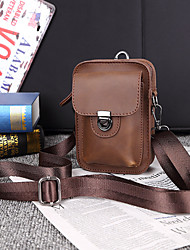 cheap -men faux leather mini casual multi-carry waist hanging 6.3 inch phone bag shoulder crossbody bag with belt loop