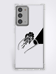 cheap -Anime Black & White Case For Samsung S20 Plus S20 Ultra S20 Unique Design Protective Case Shockproof Back Cover TPU