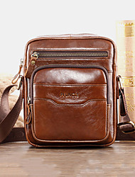 cheap -men genuine leather multi-function retro wear-resisant large capacity handbag shoulder bag cross body bag
