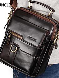 cheap -men genuine leather large capacity shoulder bag handbag
