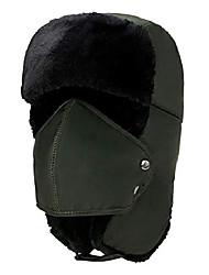 cheap -Winter Trapper Hat Ushanka Russian Hat Ear Flap Chin Strap Detachable Windproof Mask
