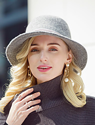 cheap -Headwear Casual / Daily Wool / Acrylic Hats with Bowknot / Solid 1pc Casual / Daily Wear Headpiece