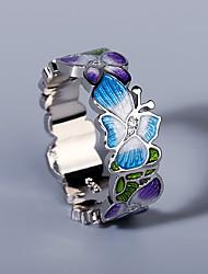 cheap -Ring AAA Cubic Zirconia Two Stone Silver Brass Flower Artistic Asian Elegant 1pc 6 7 8 9 10 / Women's