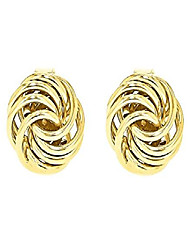 cheap -Women's 9 ct Yellow Gold Mini Rose Stud Earrings