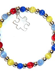 cheap -autism awareness bracelet, adult size, comes packaged (stretch (fits most adults))