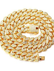 cheap -gold chain for men,20mm cuban link chain iced out miami 18k real gold plated choker necklace 50cm,full cz diamond cut prong set,with giftbox