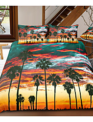 cheap -landscape print 3-piece duvet cover set hotel bedding sets comforter cover with soft lightweight microfiber, include 1 duvet cover, 2 pillowcases for double/queen/king(1 pillowcase for twin/single)
