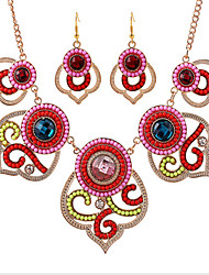 cheap -Women's Cubic Zirconia Jewelry Set Classic Flower Fashion Earrings Jewelry Rainbow For Anniversary Party Evening Gift Festival 1 set