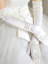 cheap -Satin Opera Length Glove Gloves With Solid