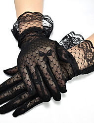 cheap -Lace Wrist Length Glove Cute With Trim