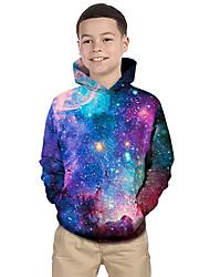 cheap -Kids Toddler Boys' Hoodie & Sweatshirt Long Sleeve Fantastic Beasts Galaxy Print Geometric 3D Print Purple Children Tops Active Basic Christmas
