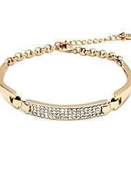 cheap -18k gold & sparkle bling crystal bracelet (gold)