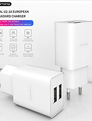 cheap -LETANG 2.1A Dual USB Wall Charger Mini Portable Travel Power Adapter Mobile Phone Chargers For IPhone Huawei Samsung