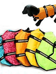 cheap -Dog Cat Vest Life Vest Bone Classic Winter Dog Clothes Puppy Clothes Dog Outfits Yellow Blue Pink Costume for Girl and Boy Dog Polyester XS S M L XL