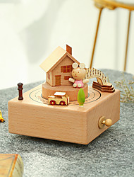 cheap -Jeancard Music Box Wooden Music Box Antique Music Box Classic Carriage Unique Wooden Women's Unisex Boys' Girls' Kid's Adults Graduation Gifts Toy Gift