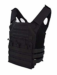 cheap -hunting tactical body protection molle plate carrier vest outdoor cs game paintball airsoft vest military equipment training (color: black)