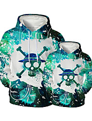 cheap -Family Look Family Matching Outfits Hoodie & Sweatshirt Graphic Optical Illusion Animal Long Sleeve Print Green Active